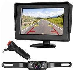 ZSMJ Backup Camera and Monitor Kit For Car/Suv/Pickup/Truck/