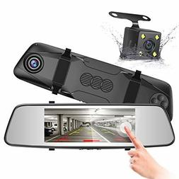 Best Backup Camera System Kit Rearview Mirror Dash Cam Uber