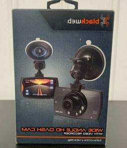 Black web Wide Camera Angle He Dash Cam With Video Recorder