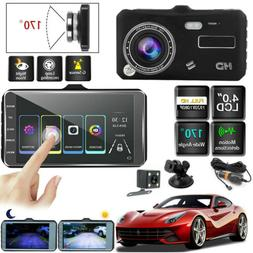 "4""HD 1080P Dual Lens Touch Screen Car DVR Dash Cam Recorder+"