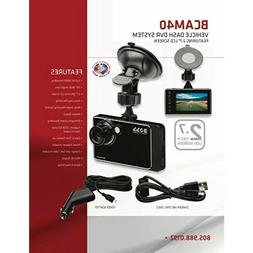 "BOSS Audio BCAM40 Car Dash Cam DVR System 2.7"" High Definiti"
