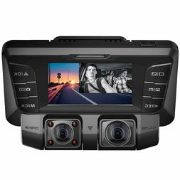 Pruveeo C2 Dash Cam nfrared Night Vision, Dual 1080P Front a