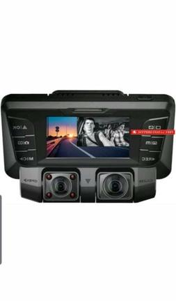 Pruveeo C2 Dash Cam With Infrared Night Vision, Dual 1080P F