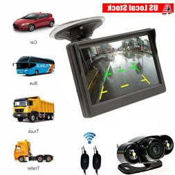 Car Auto 5 inch Monitor Suction Cup/Dash + Wireless Backup C