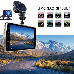 Car Camera 4 Inch Full HD 1080 Dual Lens <font><b>Front</b><