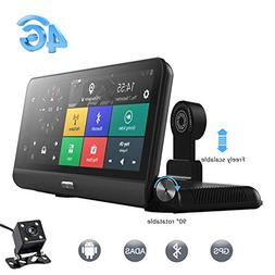 Car Dash Camera,ANSTAR 8 Inch Android 4G Touch Screen GPS Na