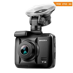 "4K Car Dash Cam, 2.4"" Dash Camera Recorder WiFi GPS, 170 °W"