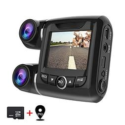EACHPAI Car Dash Cam,Dual Dash Cam FHD 1080P+1080P Front and
