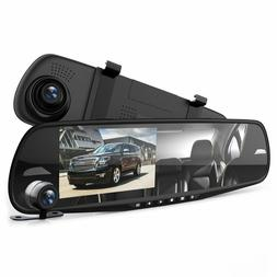 Car Dash Cam Mirror DVR Monitor Rear View Dual Camera Video