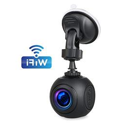Car Dash Cam EEEKit WiFi FHD 1080P Car Dash Camera Mini 360