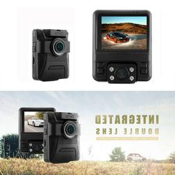 Car Dashboard Camera DVR 1080P Front and 720P Inside with Pa