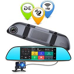 Anstar 3G Car DVR 6.86 Inch Dash Cam Android 5.0 GPS Navigat