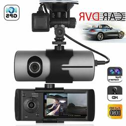 car gps dual lens dvr camera hd