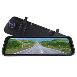 XYCARS 9.66inch Car Stream Media Dash Cam Mirror Monitor wit