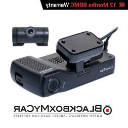 BlackSys CH-200 2-CH 1080p Full HD 2 Channel Dash cam with G