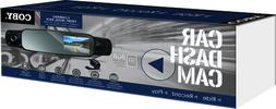 Coby DCHDM 305 Rearview Mirror Dash Cam with 3 Cameras Front
