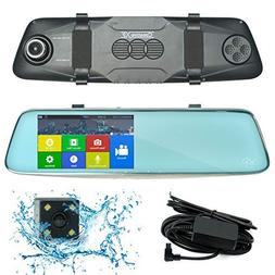 CreativeXP Dual Car Camera Front and Rear | Ultra HD 1296P M