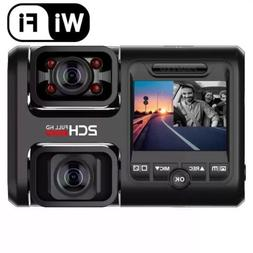 Pruveeo D30H 4K WiFi Dual 1080P Front And Inside Dash Cam