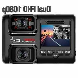 D30H Dash Cam with Infrared Night Vision and WiFi, Dual 1080