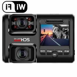 Pruveeo D30H Dash Camera Infrared Night Vision WiFi Dual Fro