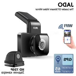 JADO D330 Car DVR Camera WIFI Speed N GPS coordinates 1080P