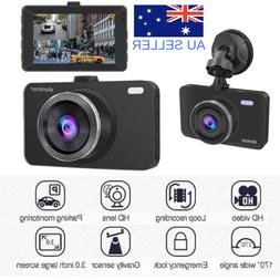 "Dash Cam 3.0"" Screen Full HD 1080P Dual Lens with Rear Parki"
