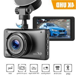 TOGUARD Dash Cam 4K UHD Built-in GPS Car Camera Recorder 24H