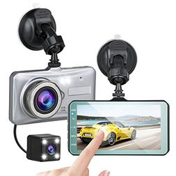 "EEEKit Dash Cam, 4"" LCD Screen Full HD 1080P Car Dashboard C"