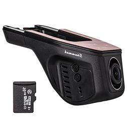 Dash Cam,with wifi with 16GB Card FHD 1080p Car Recorder Hid