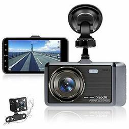 Dash Cam, Abask Camera For Cars With Night Vision And Parkin