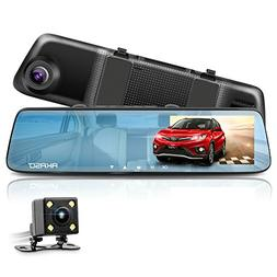 AKASO Mirror Dash Cam 1080P 5 Inch Touch Screen Dash Camera