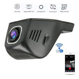 EEEKit Dash Cam, WiFi 1080P HD Car Video Recorder, Wide Angl