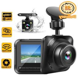 Dash Cam Car Camera Recorder Fhd 1080P Front And Rear Camera