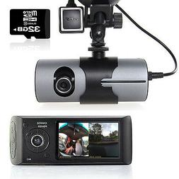 "M2CBridge Dash Cam 2.7"" LCD HD Dual Cam Car DVR Black Box w/"