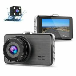Dash Cam, Dual Dash Camera for Cars with Night Vision and Pa