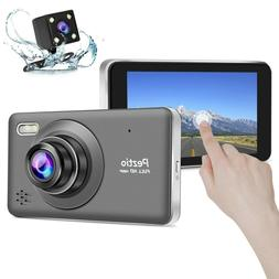Dash Cam Front and Rear Full HD 1080p Dual Lens Car DVR Dash
