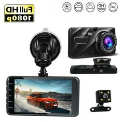 "Dash Cam Front And Rear G-Sensor Night Vision 4"" Motion Dete"