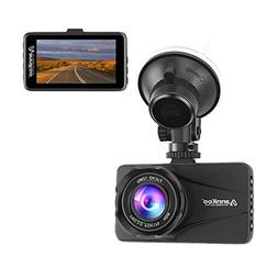 "ANNKOO Dash Cam AD01 Large HD Lens 3.0"" Screen Full HD Displ"