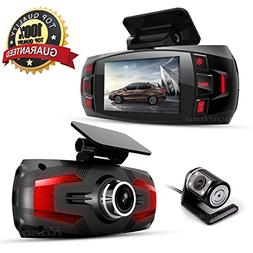 Range Tour Dash Cam, Car Full HD 1080P Dash Camera Dual Lens
