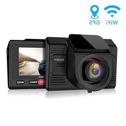 Campark Dash Cam with GPS Logger and WiFi Full HD 1080P Car/