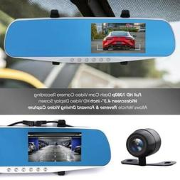 "Dash Cam Rearview Mirror Monitor - 4.3"" DVR Rear View Dual"