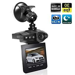 "Dash Cam, Car Dashboard Camera Recorder with 2.5"" Wide View"