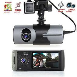 "Indigi Dash Cam 2.7"" TFT LCD HD Dual Camera Car DVR Black Bo"
