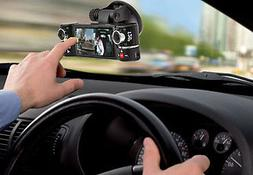 "inDigi Dash Cam 2.7"" TFT LCD Dual Camera Rotated Lens Car DV"