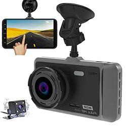 Dash Cam, MILIEN 1080P Front and Rear Dual Dash Camera with