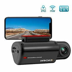 Dash Cam WiFi Camera for Cars FHD 1080P Car with GPS 150° W