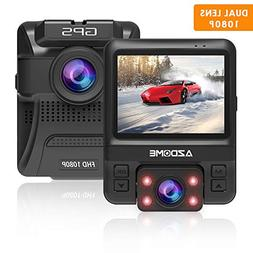 Dash Cam with 6-Lane Dual Lens 170°Wide-Angle,1080P Front a
