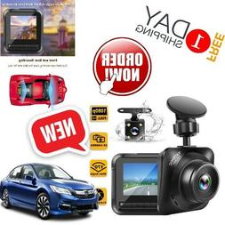 Dash Camera Front And Rear FHD 1080p For Cars With Night Vis
