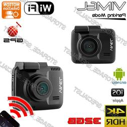 Dash camera with GPS HDR 2880x2180P WIFI Wireless Backup Son