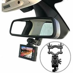 Dash Camera Mirror Mount Kit GPS Car Rearview 360 Degree Rot